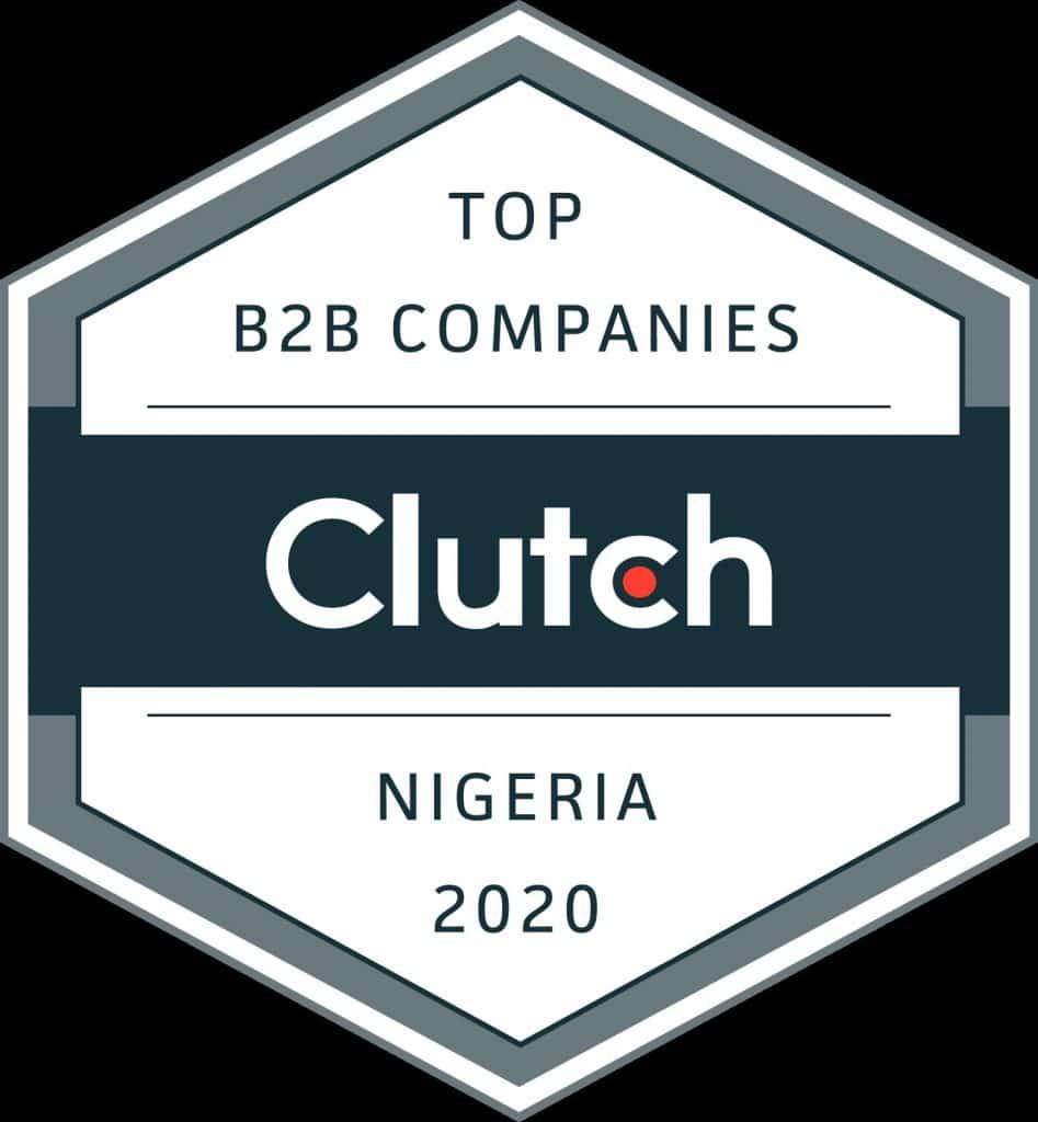 clutch 2020 top digital agency in nigeria award.
