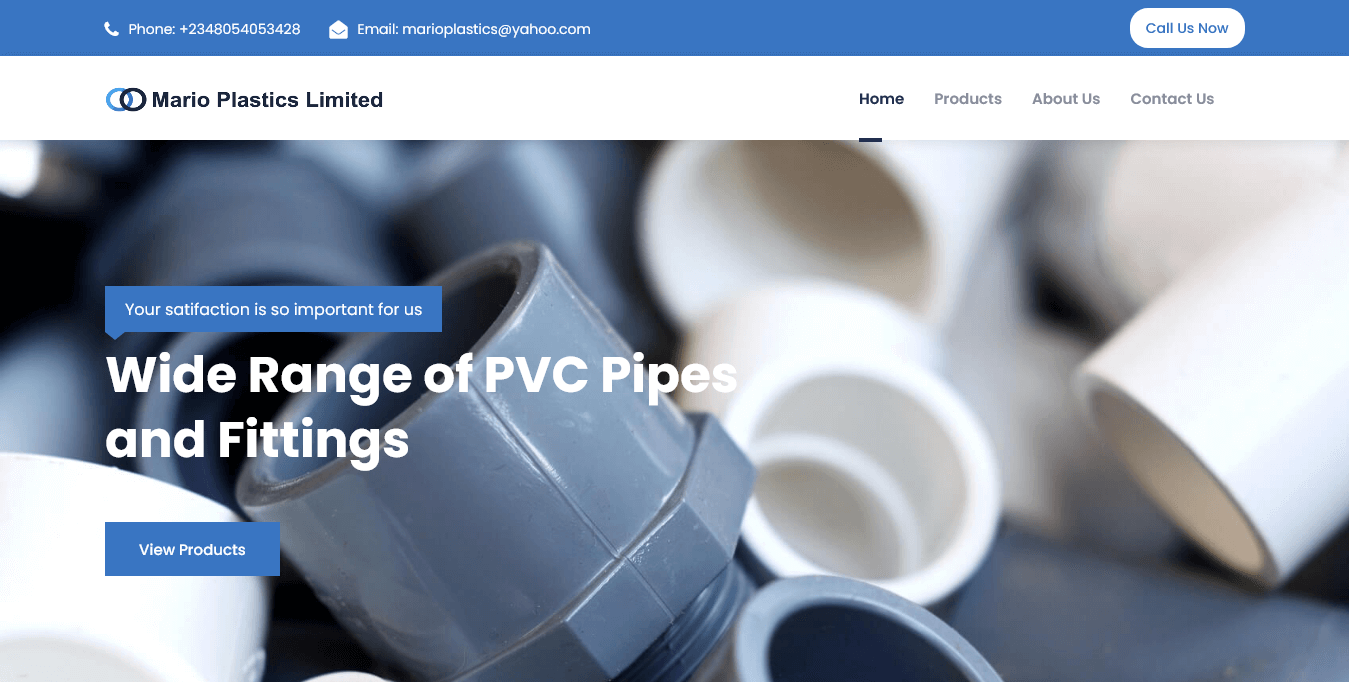 Best PVC Pipes Producer - Mario Plastics Limited